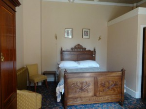 Double room bed and breakfast from £70 per night